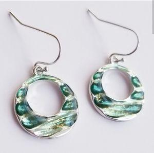 5/$20 Green O Earrings